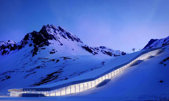 skihalle tignes dejong architects