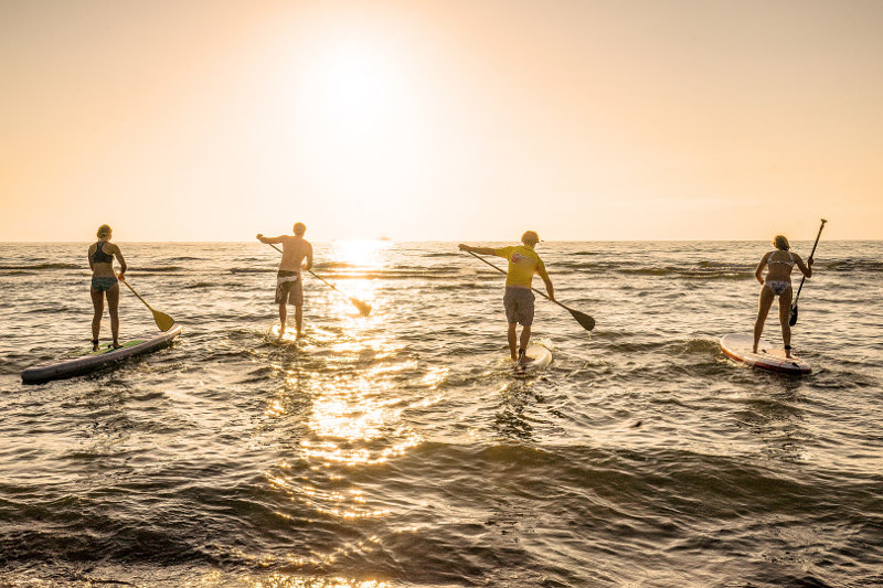 Stand up paddler, Ostsee