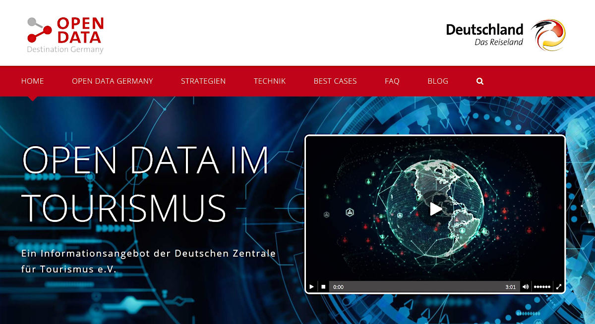 Screenshot Open Data Germany
