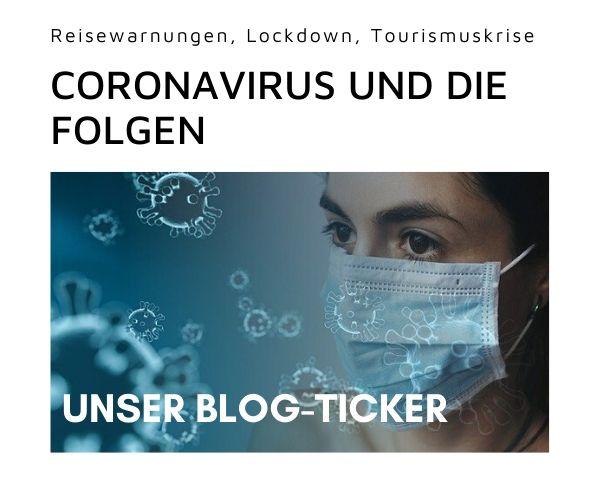 Banner Coronavirus im Tourismus
