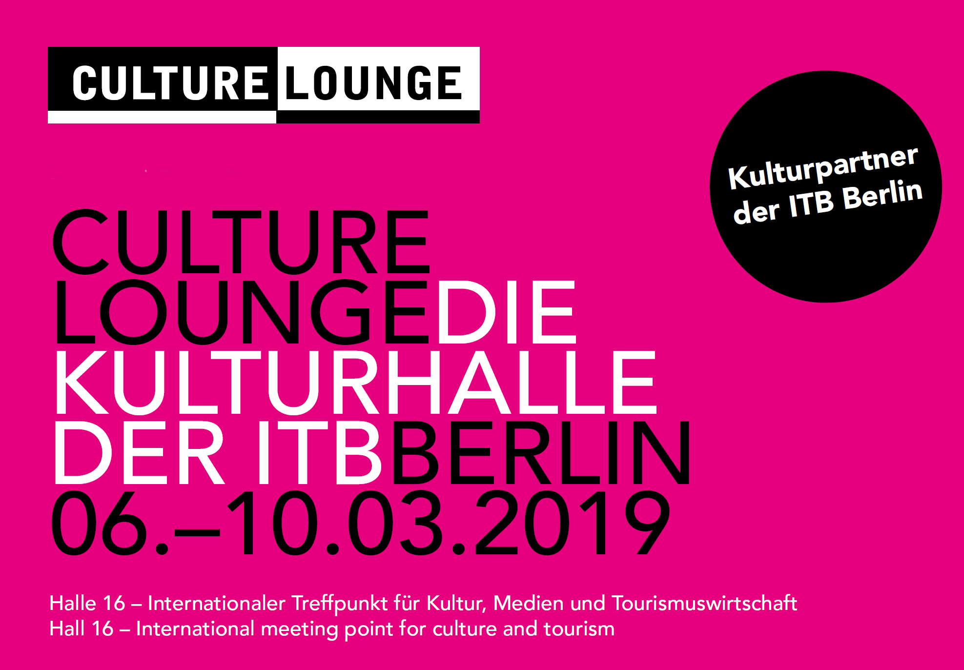 Culture Lounge auf der ITB Berlin in Halle 16